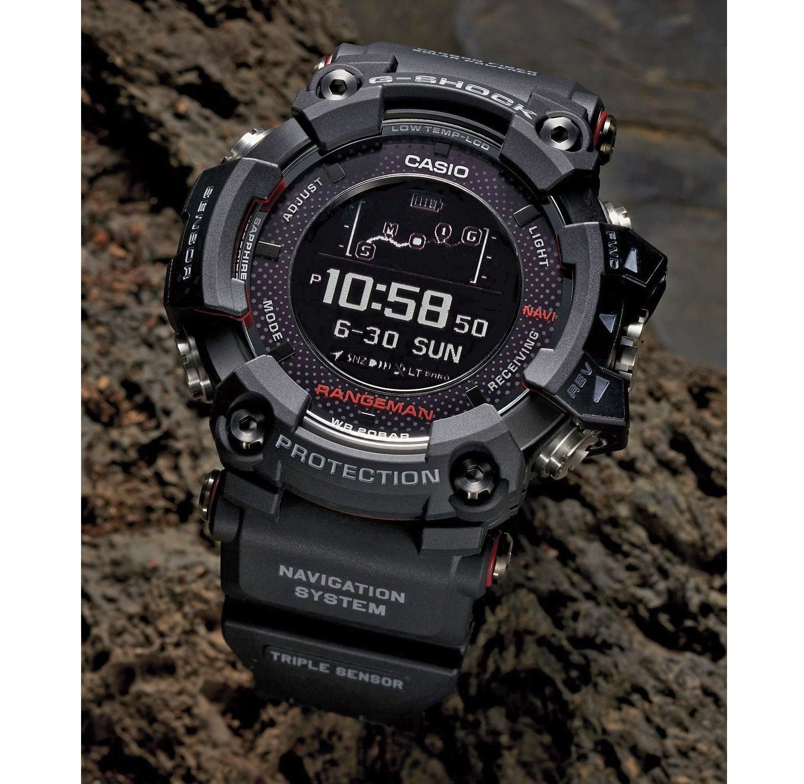 new arrival e2836 d34e1 Casio G-SHOCK Rangeman GPS Navigation GPRB1000-1 Triple Black Watch 2018
