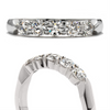 Hearts on Fire Five Stone Diamond Wedding Band Ring .50ctw