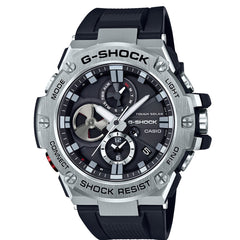 Casio G-Shock G-Steel Layer Guard Structured Stainless Steel Case Watch GSTB100-1A