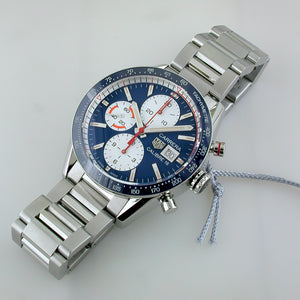 TAG Heuer Carrera Blue Chronograph Watch dealer connecticut CV201AR.BA0715