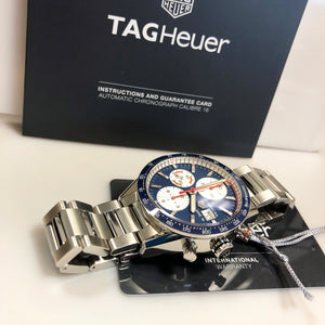 TAG Heuer Carrera Blue Chronograph 41mm Watch CV201AR.BA0715