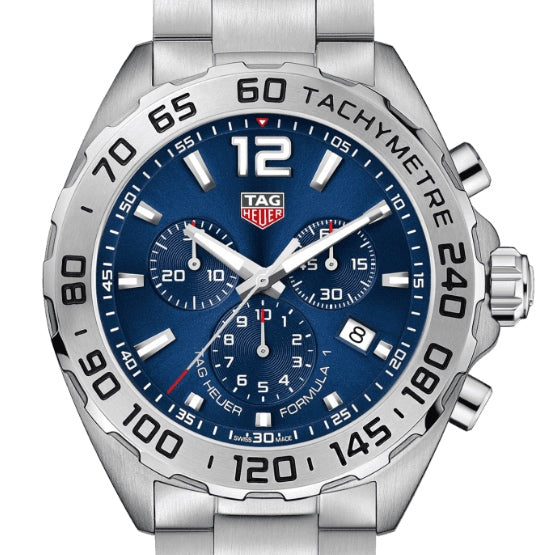 TAG Heuer 43MM Quartz Formula 1 Blue Dial Steel Watch CAZ101K.BA0842