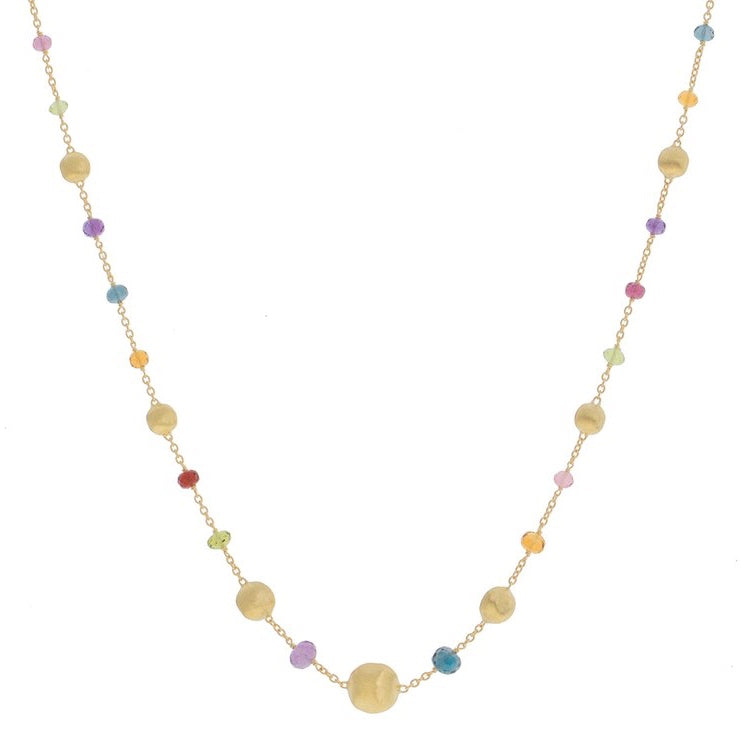 Marco Bicego CB2281-L MIX02 Y Africa Necklace with Multi-Colored Gems