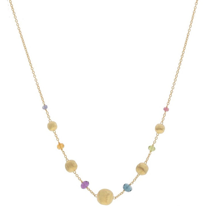 Marco Bicego CB2323 MIX02 Y Africa Gemstone Necklace 18K Yellow Gold