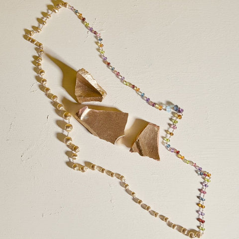 Marco Bicego 18K Yellow Gold and Multi-Colored Gemstone Convertible Necklace CB2357 MIX02 Y