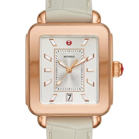 Michele Deco Sport Rose Gold And Cashmere Watch  MWW06K000008