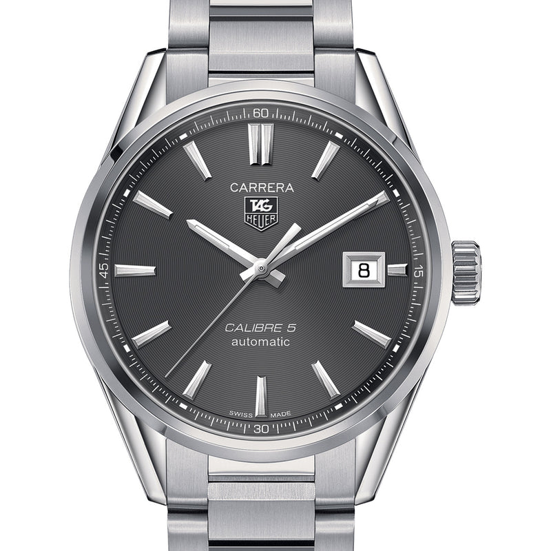 Tag Heuer Automatic 100M Carrera Grey Dial Watch 39MM WAR211C.BA0782