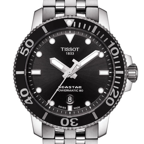 TISSOT Seastar 1000 Powermatic 80 Black 43mm Watch T1204071105100