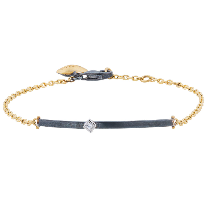 "Lika Behar ""Chained"" Bracelet Oxidized Silver & Yellow Gold CD-B-137-GXD-5"