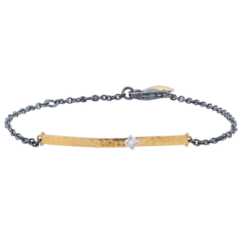 "Lika Behar ""Chained"" Bracelet Oxidized Silver & Fusion Yellow Gold CD-B-237-GXD-5"