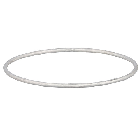 Lika Behar Plain Oxidized Silver Bangle Bracelet HM-B-322-SIL