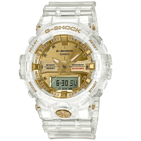Casio G-Shock Glacier Clear Gold Limited 35th Anniversary Watch GA835E-7A