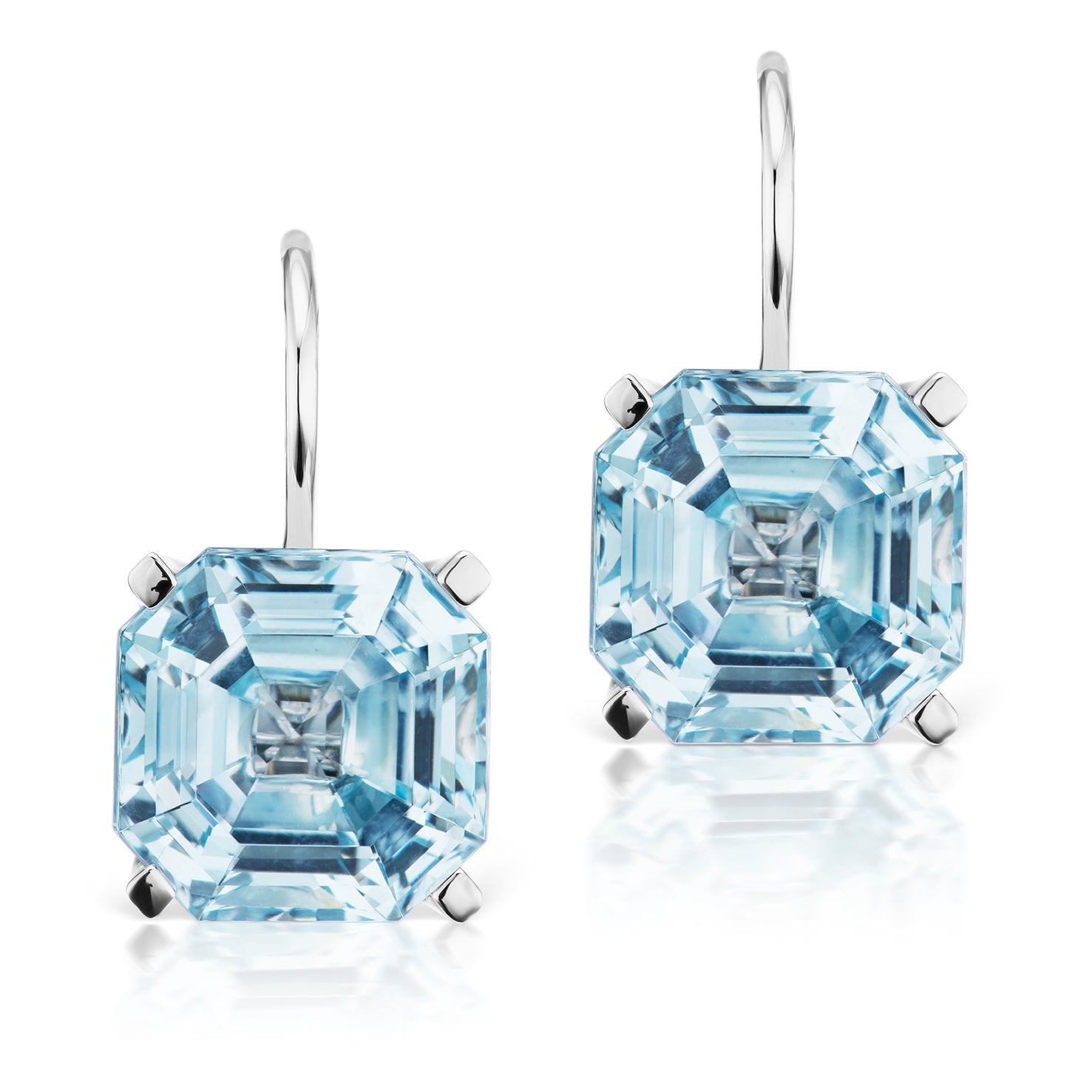 Jane Taylor Twinkle Twinkle Blue Topaz Octagonal Drop Earrings