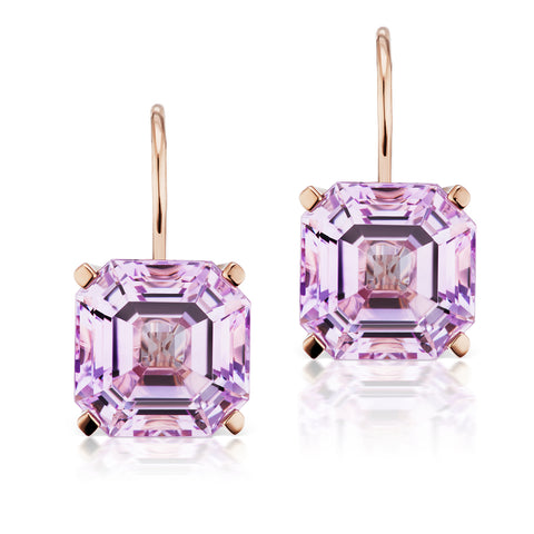 Jane Taylor Twinkle Twinkle Octagonal Rose de France Drop Earrings