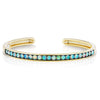 Jane Taylor Cirque Oval Hinged Cuff Bracelet with Opal Cabochons