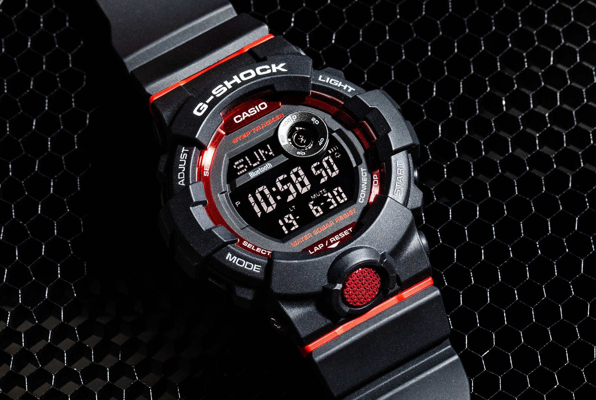 bb6ef751fe5 Casio G-Shock G-Squad Bluetooth Red Black Watch GBD800-1 – Nagi Jewelers