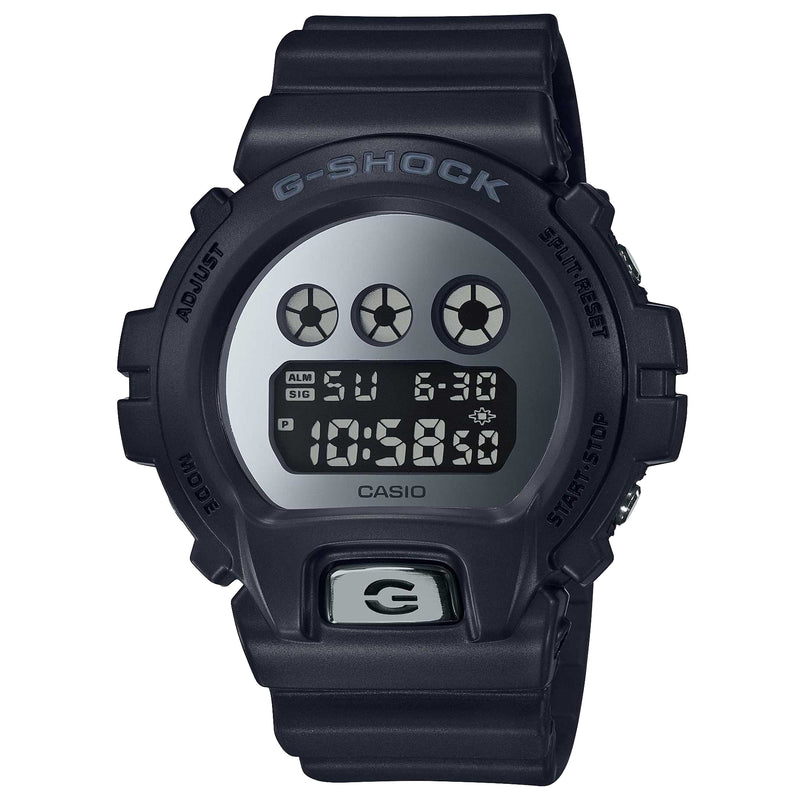 Casio G-Shock Metallic Silver Digital Black Watch DW6900MMA-1