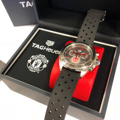 TAG Heuer Manchester United Special Red Chrono Watch 43mm CAZ101M.FT8024