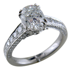 Oval Brilliant 2 Carat Diamond Platinum Engagement Ring