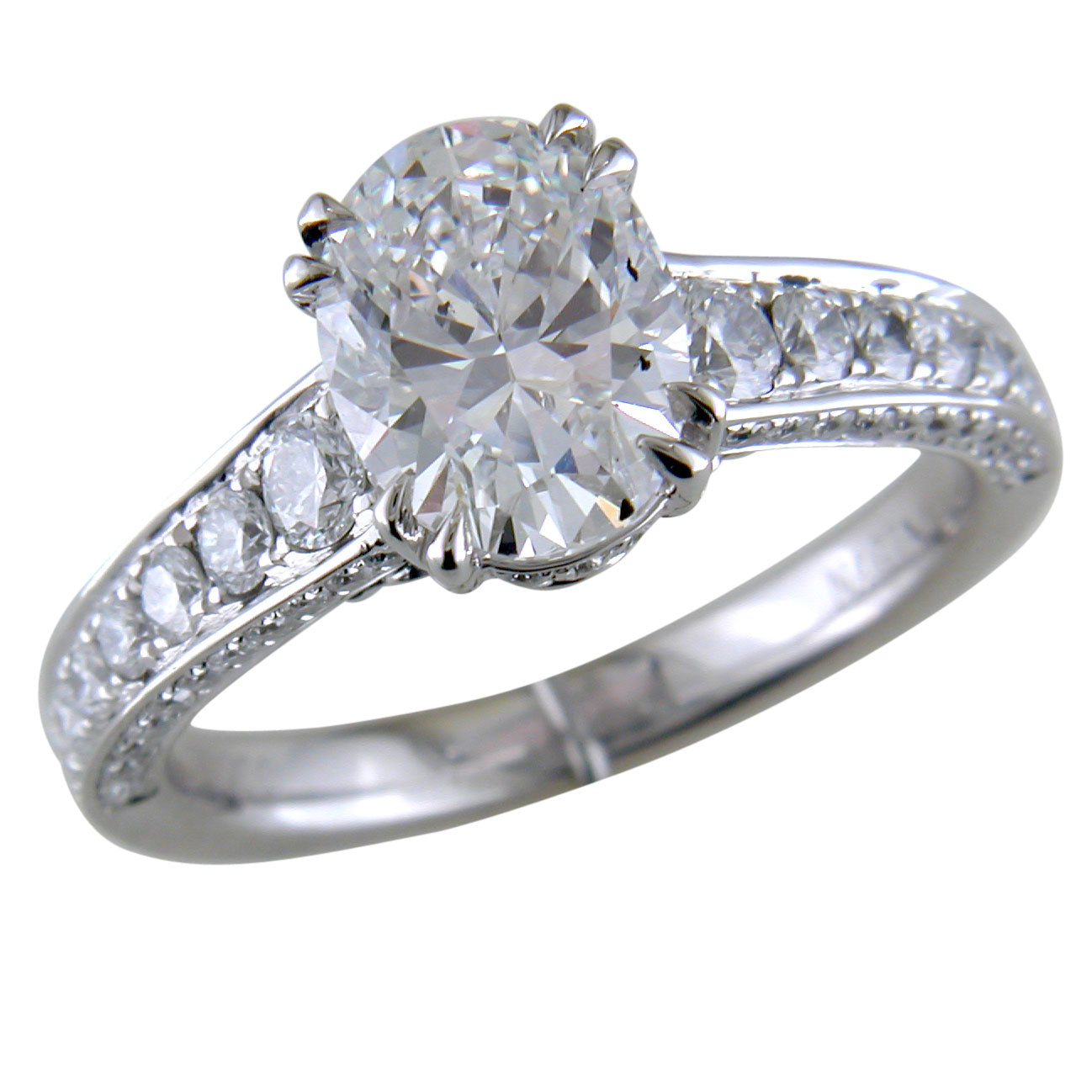 Oval Brilliant 2 Carat Diamond Platinum Engagement Ring stamford ct
