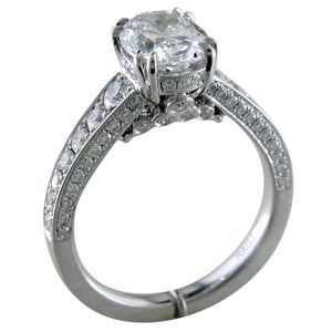 Oval Brilliant 2 Carat Diamond Platinum Engagement Ring connecticut