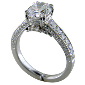 Oval Brilliant 2 Carat Diamond Platinum Engagement Ring stamford