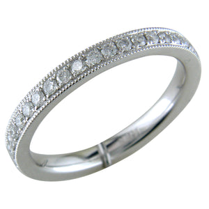 Platinum Diamond Eternity Band Ring with Milgrain custom