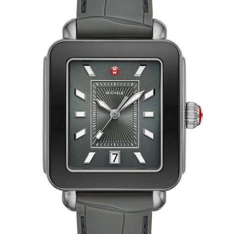 Michele Deco Sport Shadow Grey & Gunmetal Watch MWW06K000010