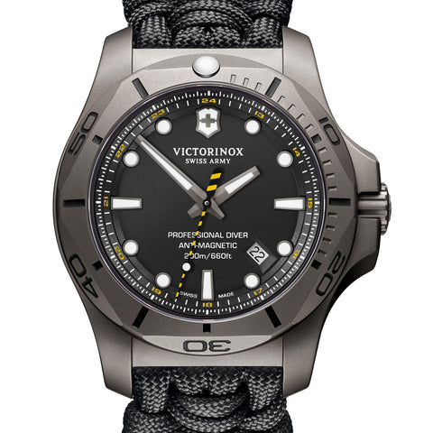 Victorinox Swiss Army 45MM INOX Professional Diver Watch Black Titanium 241812