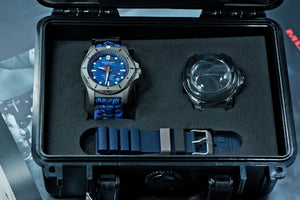 Victorinox Swiss Army 45MM INOX Professional Diver Watch Blue Camo 241813