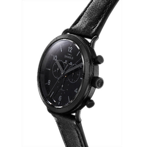 Shinola 45MM All Black Chronograph Canfield Sports Watch S0120121828