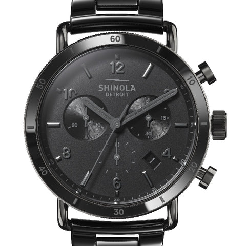 Shinola 40MM Canfield Sport All Black Mens Watch S0120121832