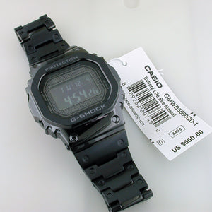timeless design 22e5a e0a6c CASIO G-SHOCK Full Metal Square Black 5000 GMWB5000GD-1 Watch Steel 35th