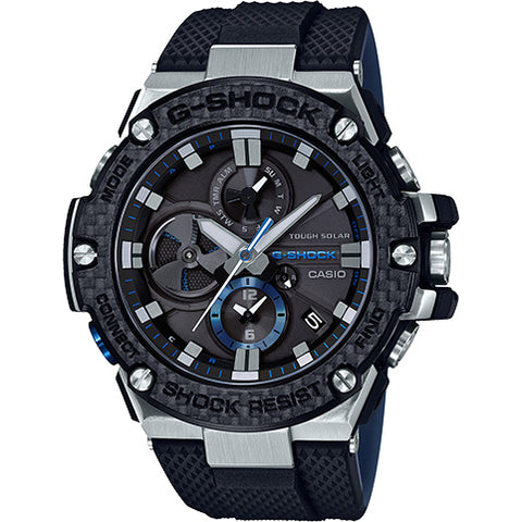 Casio G-Shock G-Steel Carbon Bezel Bluetooth Solar Blue Watch GSTB100XA-1A