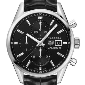 TAG Heuer 41MM Automatic Black Carrera Chronograph Watch CBK2110.FC6266