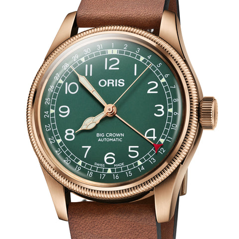 Oris 40MM Big Crown Pointer Date 80th Anniversary Automatic Green Dial Bronze Watch