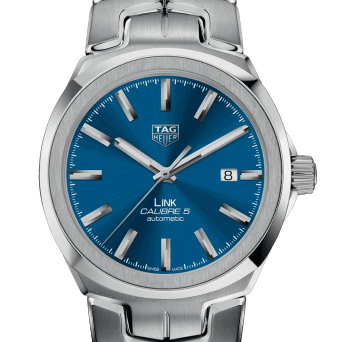 TAG Heuer 41MM Link Calibre 5 Blue Dial Watch WBC2112.BA0603