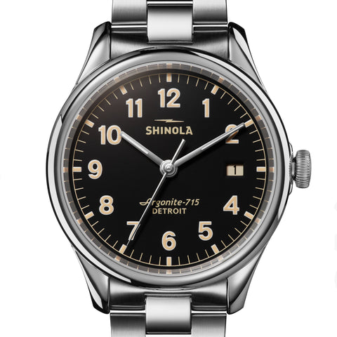 Shinola 38MM Vinton Black Dial Unisex Watch S0120141278