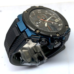 Casio G-Shock G-Steel Blue Rose Gold Solar Watch GSTB100XB-2A