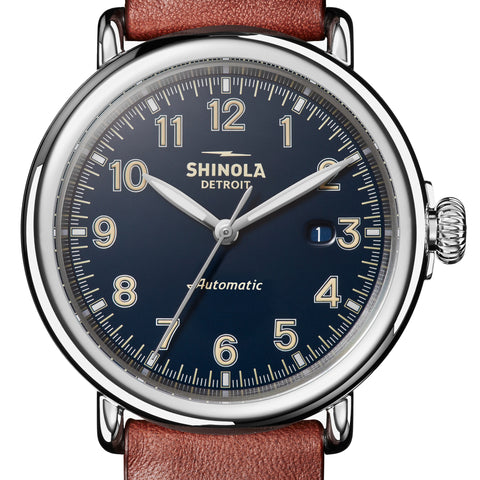 Shinola 45MM Runwell Automatic Midnight Blue Dial Watch S0120141492