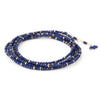 Anne Sportun Blue Lapis Beaded Confetti Wrap Bracelet & Necklace 34""