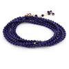 "Anne Sportun Blue Lapis Beaded Wrap Bracelet & Necklace 34"" B098G-LAPIS"