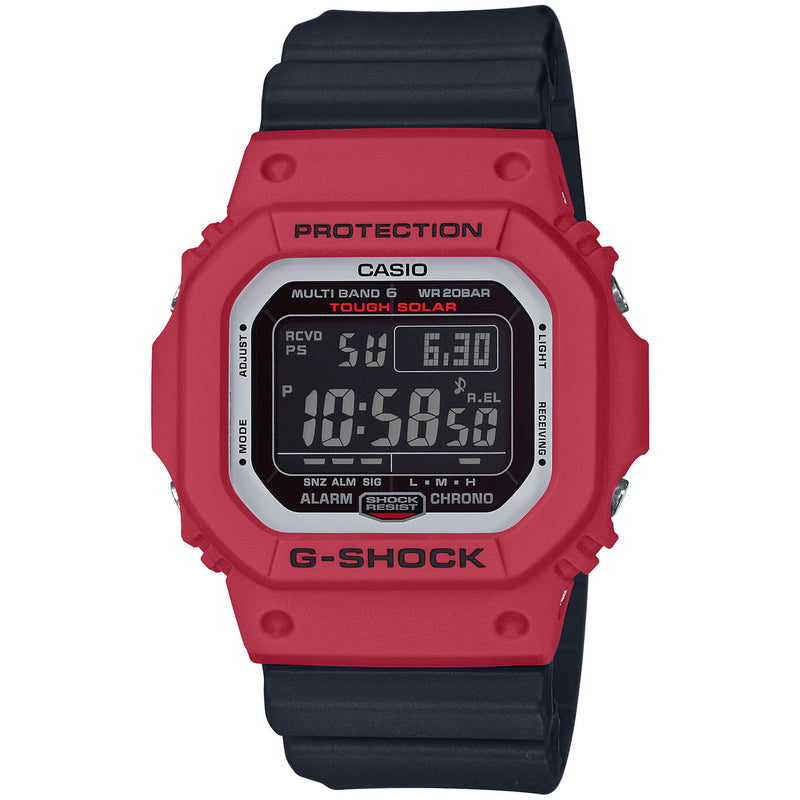 Casio G-Shock GWM5610RB-4 Red Black Solar Bluetooth Watch Classic RB Series