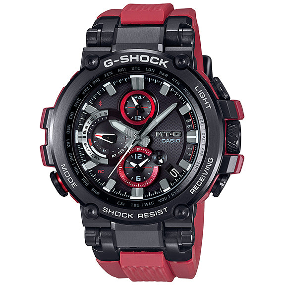Casio G-Shock MT-G MTGB1000B-1A4 Red Black Bluetooth Steel Watch Limited Edition