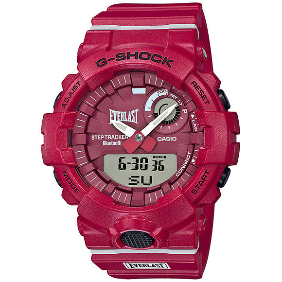 Casio G-Shock Everlast Boxing Red Bluetooth StepTracker Analog-Digital Watch GBA800EL-4A