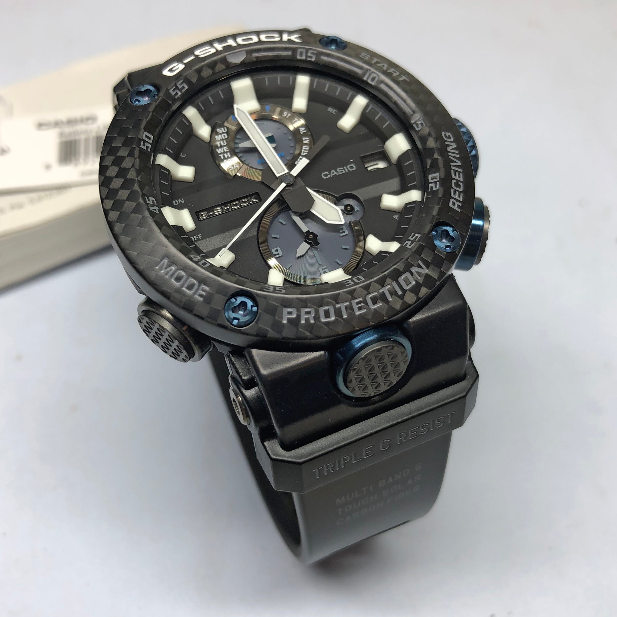 d7f4f5af50 CASIO G-SHOCK GWR-B1000-1ACR Gravity Master G-CARBON Core Blue & Black
