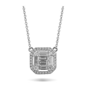 Doves Mondrian Diamond Necklace with an Invisible Setting N8687