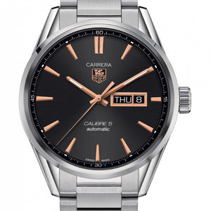 TAG Heuer 41MM Calibre 5 Black Dial Day-Date Watch WAR201C.BA0723