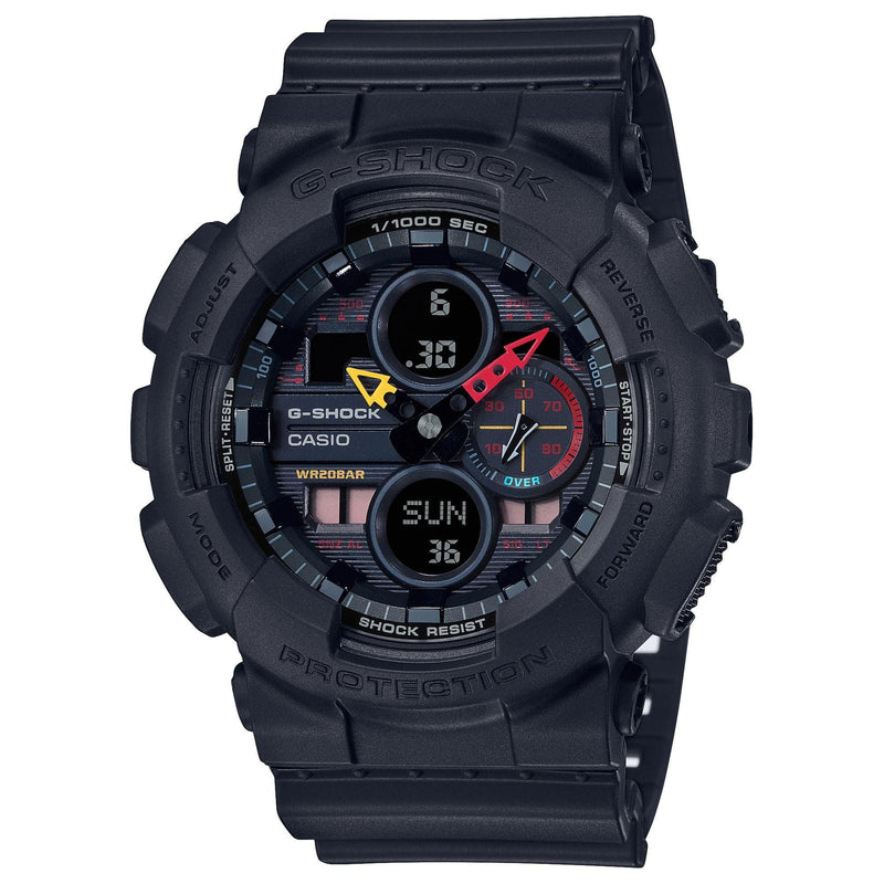 Casio G-Shock Neo Tokyo Color Analog-Digital Black Watch GA140BMC-1A