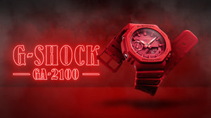 Casio G-Shock Red Carbon Core Guard 2100 Series GA2100-4A
